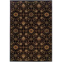 Oriental Weavers Hudson 3299B Black/Brown Floral Area Rug