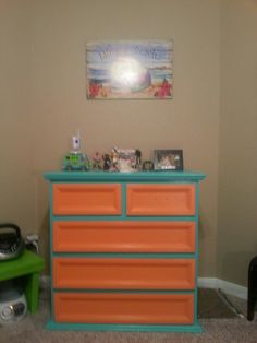 """doing this to graces dresser for her new room except the drawers will have """"lace"""" texture to them Scooby doo room - dresser"""