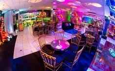 Decoração das mesas - Festa Tomorrowland