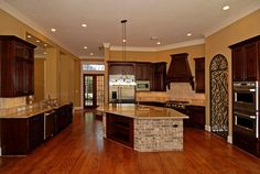 large kitchen- not too bad... Maybe not personal enough for guest interaction.
