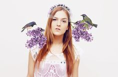 LILAC  purple floral crown with birdcage veil by DDSLLGirlsStore, $70.00