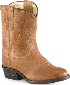 kids girls toddlers brown cowgirl boots leather western cowboy ...