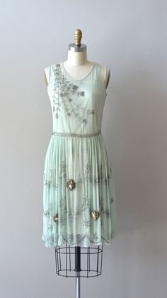 silk 1920s dress / vintage 20s dress / Menthe Douce by DearGolden, $550.00