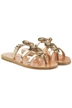4c442659bab0 Ancient Greek Sandals - Charlotte Metallic Leather Sandals