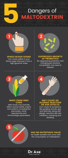 Maltodextrin dangers - Dr. Axe http://www.draxe.com #health #holistic #natural