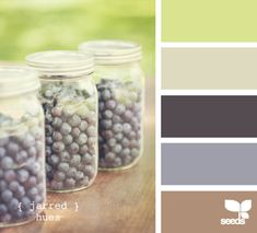 I love the muted tones in this palette. It feels summery, but not in-your-face-bright. They might make great wedding colors.