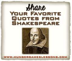 Celebrating Shakespeare: The Ides of March Are Come...But Not Gone ~ Share your favorite quotes from Shakespeare!
