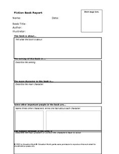 Amazing Non-Fiction And Fiction Book Report Templates For Upper