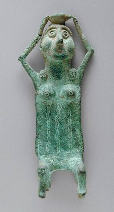 Woman with Bowl Western Iran bronze ca 9th century B.C.
