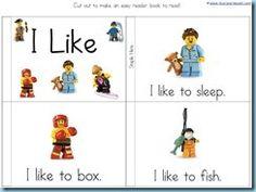 Emergent reading using Lego printables