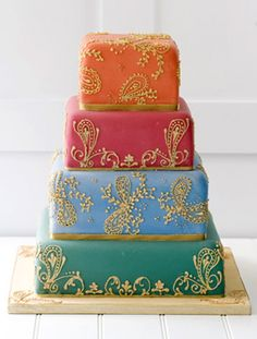 Beautiful Middle Eastern Color and Patterned Cake