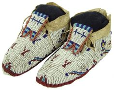 Sioux Beaded Child's Moccasins
