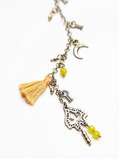 Free People Orange Dew Drop Necklace