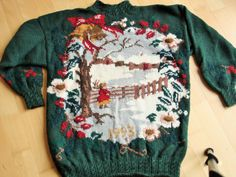 Ugly Christmas Sweater Laura Ashley Vintage by MermaidsHatbox