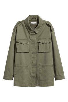 Cargo jacket - Khaki green - Ladies | H&M IE 1