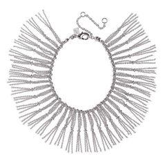 Rebecca Minkoff Beaded Fringe Bracelet ($35) ❤ liked on Polyvore featuring jewelry, bracelets, necklaces, silver, beaded jewelry, gold tone jewelry, beaded silver jewellery, polish jewelry and silver jewellery