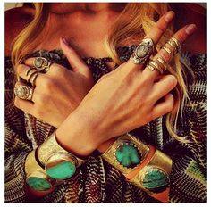 The gypsies in us. #fall jewelry #Teal Jewelry
