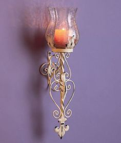 Candle Sconces Metal candle sconces Metal Hurricane Wall Sconce Antique Vintage Scroll Candle Votive Holder Decor candle sconces for the wall White * Click image to review more details.