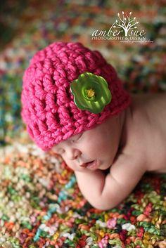 Ravelry: Newborn Button Hat pattern by The Yarn Gallery
