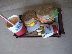 Defina em papel de fast food