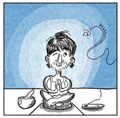 What distracts you during meditation?  #meditation #distraction #comic #art #artist #yoga #sofayoga #meditate #drawing