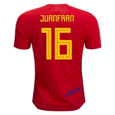 581548b0ac3 Juanfran 16 2018 FIFA World Cup Spain Home Soccer Jersey World Cup Jerseys
