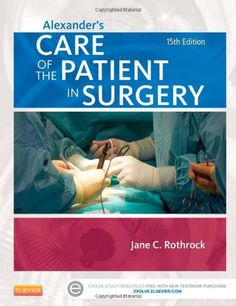 """Alexander's Care of the Patient in Surgery, 15e by Jane C. Rothrock . """"This book provide step-by-step instructions for over 400 surgical procedures and has more than 1000 full-color illustrations and photos of techniques, surgical anatomy, and instrumentation."""" Link to UML catalogue: http://primo-pmtna01.hosted.exlibrisgroup.com/UMB:UMB_ALMA21665849250001651"""
