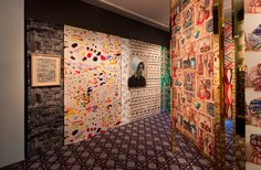 "exhibit ""Tissus Inspirés, Pierre Frey"" set-up"