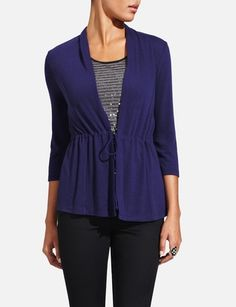 Tie-Front Cardigan from THELIMITED.com