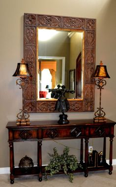ROOMS: Project Reveal: Church Foyer Makeover / The table adds ...