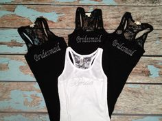 BEST PRICE /4 Bridesmaid Tank Tops Bride by BridalBlissCouture, $48.00