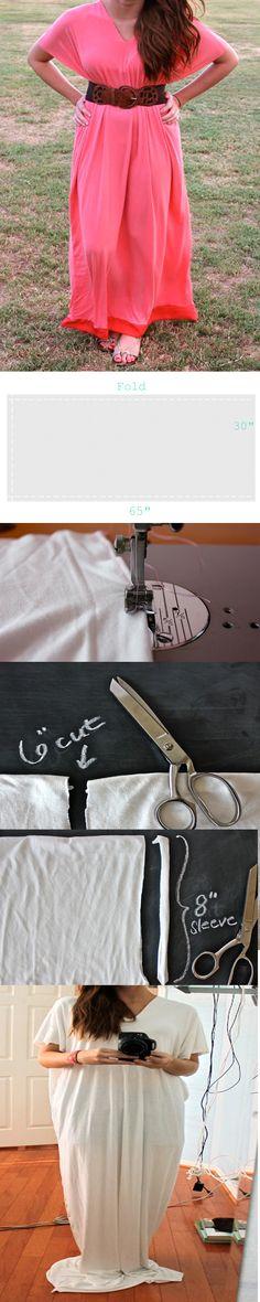 How To Make а #Maxi #Dress, #diy    I AM SO DOING THIS! @Toni Kight-Searles I am so making this!
