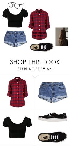 """#OOTD and Fall out boy concert tonight!"" by iluvlegolas-onceuponatime ❤ liked on Polyvore featuring Vans and Ray-Ban"