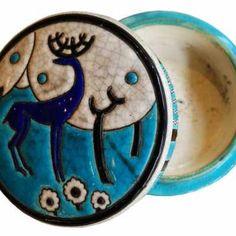 Boîte de style Art Déco en émaux de Longwy