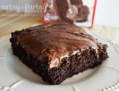 Perfect Chocolate Cake - from a cake mix! Add extra egg, substitute milk and butter for water and oil