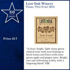 Lost Oak Winery Texas, 'Tres Uvas' 2012