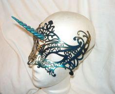 Nightshade Unicorn - Mask with Horn by Ganjamira