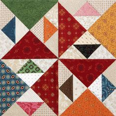 Pecking Order by Laurie Baker from Quiltmaker's 100 Blocks Volume 6 @ Quilty Pleasures Blog: