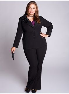 I love this.  Not just the Jacket but the entire outfit.  Igigi always has awesome clothing for plus sized women.