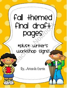 Fall Themed Final Draft & Publishing Papers product from Sweet-and-Neat-Printables on TeachersNotebook.com