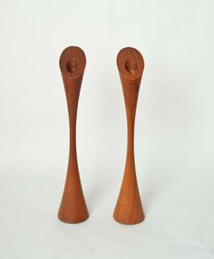 Pair of Danish Teak Candle Holders by NeatoVintage on Etsy, $43.00