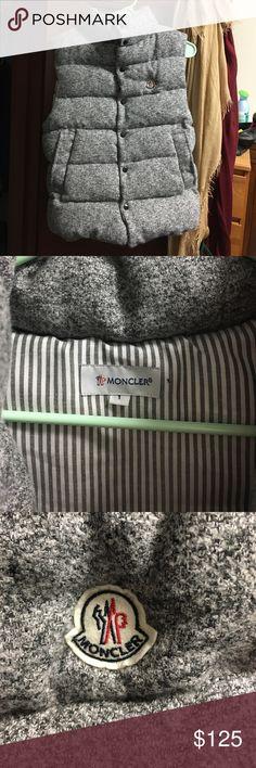 MONCLER vest MONCLER gray vest never worn. New. Very cozy and warm Moncler Jackets & Coats Vests