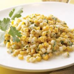 Creamed Corn goes tropical.  Coconut Creamed Corn... with coconut milk, cilantro, and lime juice.  Possibly yummy for a barbecue side dish or on a seafood salad. (Eating Well)
