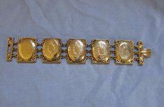 Vintage Hattie Carnegie Designer Gold Toned Locket Link by KeeVos