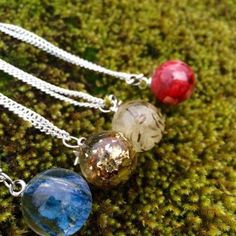 Resin sphere necklaces