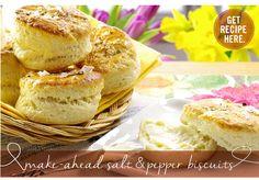 RECIPE: Make-Ahead Salt and Pepper Biscuits | www.kitchenwindow.com #KWMpls