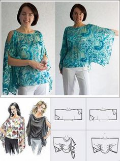 Fantastic 50 Sewing tutorials tips are offered on our web pages. Read more and … Tunic Sewing Patterns, Sewing Blouses, Clothing Patterns, Dress Patterns, Pattern Sewing, Coat Patterns, Fashion Sewing, Diy Fashion, Ideias Fashion