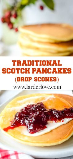 traditional Scotch pancakes aka drop scones. So quick and easy to make perfect from breakfast to supper time. #scottishbaking #breakfast #brunch #pancakes #easybaking #scottishrecipes#larderlove Great Breakfast Ideas, What's For Breakfast, Breakfast Recipes, Drop Scones Recipes, Baking Recipes, Diet Recipes, Scotch Pancakes, Recipe Sharing