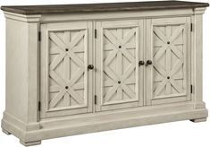 Bolanburg - Antique White - Dining Room Server by Signature Design by Ashley. Get your Bolanburg - Antique White - Dining Room Server at The Unique Piece, Dallas GA furniture store. Dining Room Server, Signature Design By Ashley, Weathered Oak, Ashley Furniture, White Buffet, White Dining Room, Dining Room Essentials, Dining Room Decor, Grey Dining