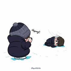 Nielong Kpop Drawings, Cute Drawings, Ong Seung Woo, Happy Pills, Gay Art, Seong, Boyfriend Material, Cute Art, Cute Boys